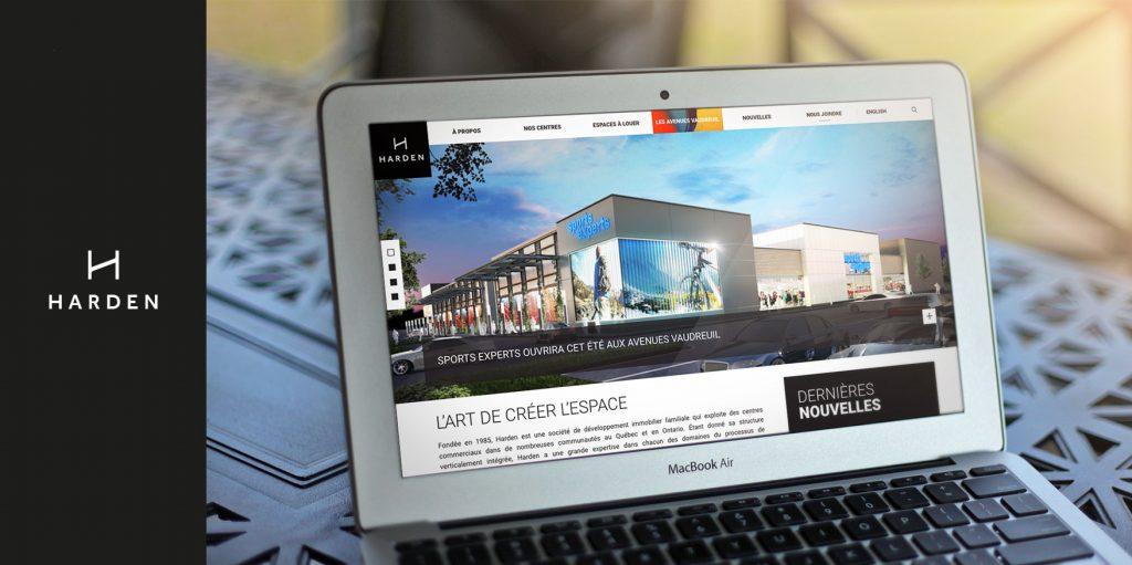 Harden présente son nouveau site Web